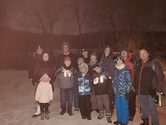 Night Hike Troop 186 with WEBELOWS