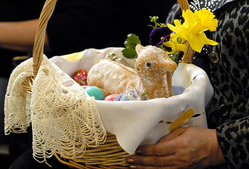 Blessing of the Easter Food Baskets at 1pm