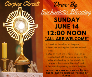 Drive-By Eucharistic Blessing
