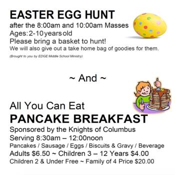 Easter Egg Hunt and Pancake Breakfast