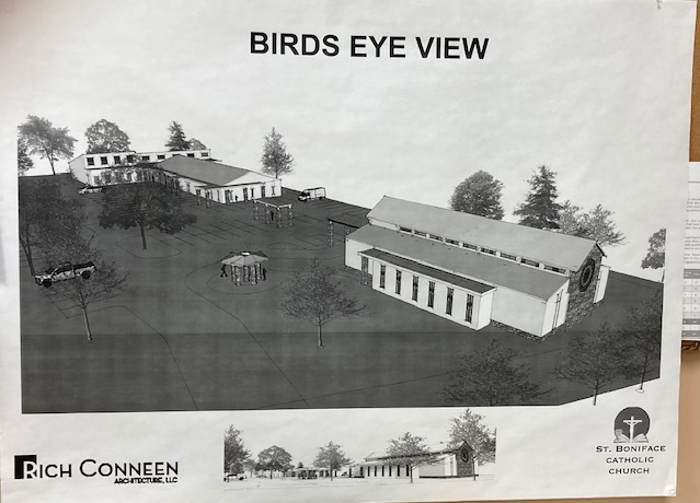 An option for the new church on the site